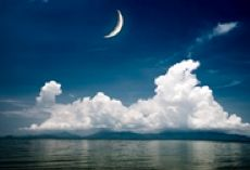 a New moon over water (small)