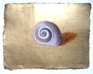 Shell on Gold Ground