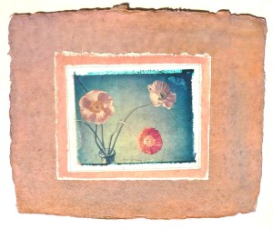 collage paper poppies