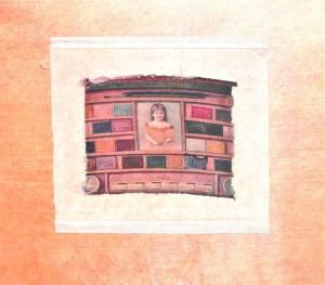 collage silk Victorian girl